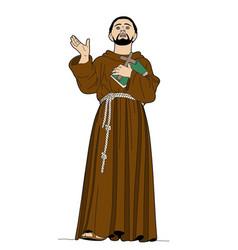 Monk in ecstasy vector