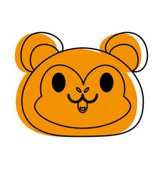 Monkey cute animal cartoon icon image vector
