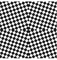 monochrome checkered seamless black pattern vector image
