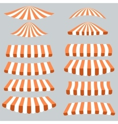 Orange White Tents vector