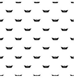 origami boat pattern seamless vector image