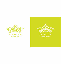 original linear image crown vector image