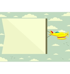 Plane with a Poster vector image