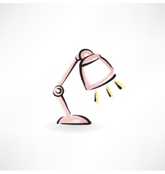 Reading-lamp grunge icon vector