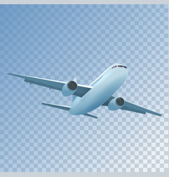 realistic plane flies high vector image