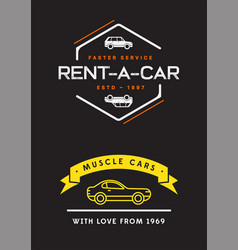 Set car rental service elements can be used vector