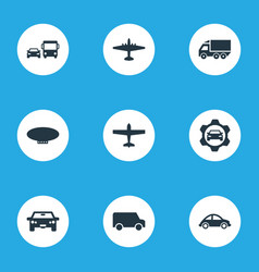 Set of simple shipment icons vector