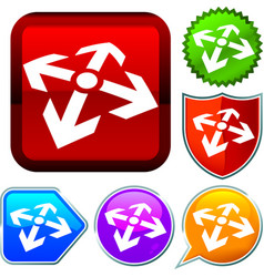Set shiny icon series on buttons start point vector