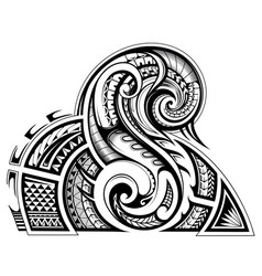 Shoulder and sleeve tattoo design in tribal art vector