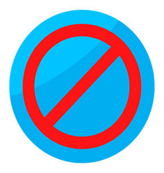 Sign ban isolated round vector image