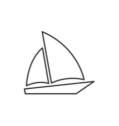 single sailboat line icon vector image