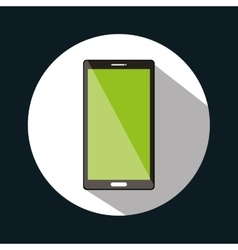 Smartphone green screen graphic design vector