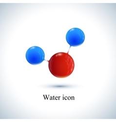 Template water icon Molecule for medicine vector