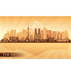 Tokyo city skyline silhouette vector image