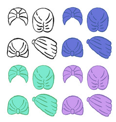Turban or shower cap template vector