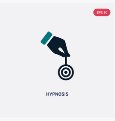 Two color hypnosis icon from magic concept vector