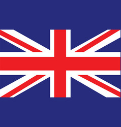 united kingdom flag for independence day and vector image
