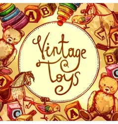 Vintage Toys Composition vector