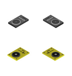 Vinyl player icon in on white background vector