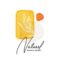 watercolor acrylic shapes natural eco print vector image