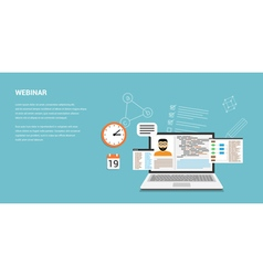 webinar vector image