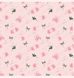 wild flower with dragonfly seamless pattern vector image