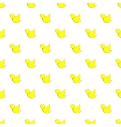 Yellow bird pattern cartoon style vector