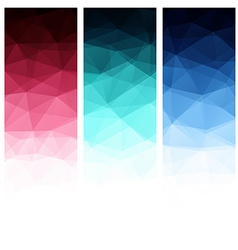 Abstract geometric polygonal background vector image vector image