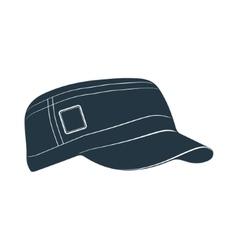 baseball cap visor headgear hat accessory vector image vector image