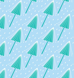 blue tree pattern vector image vector image