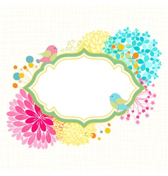 Colorful Flower Bird Garden Party Invitation vector image vector image