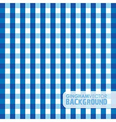 gingham blue vector image