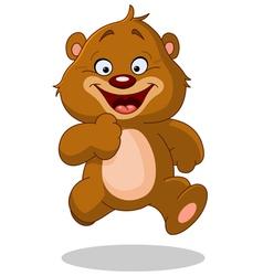 running teddy bear vector image vector image