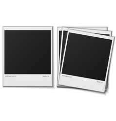 Set Polaroid photo frames on white background vector image