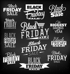 Black Friday Calligraphic Designs vector image vector image