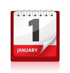 calendar icon | red vector image vector image