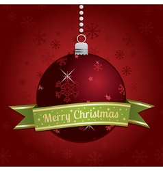 christmas bauble decoration vector image vector image