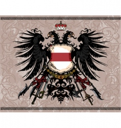 eagle coat of arms vector image vector image