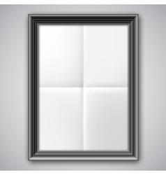 Folded Paper in Black Frame vector image vector image