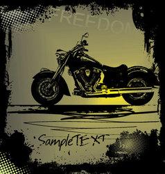 grunge motorbike background vector image vector image