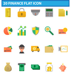money flat icon set for web and mobile application vector image