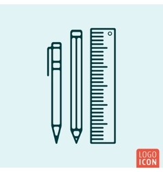 School supply icon vector image