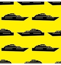 Ship seamless pattern vector image