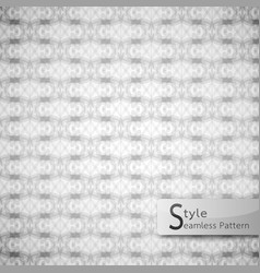 Abstract seamless pattern perforate mesh white vector