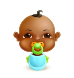 African baby icon vector image vector image