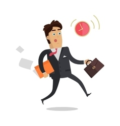 Being Late to Meetings Flat Style Concept vector image