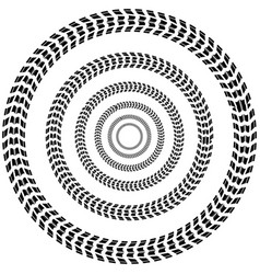 circle tire track background vector image