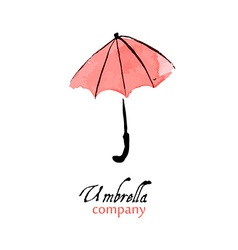 Design element pink umbrella vector image