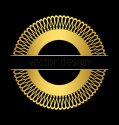 golden logo template with circle ornament vector image