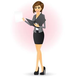 office girl vector image vector image